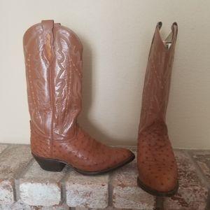Dan Posts Real ostriche Cowboy boots